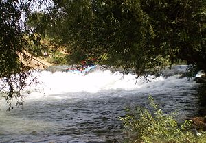 Rafting in the Jordan river