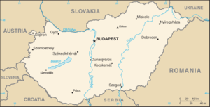 An enlargeable basic map of Hungary