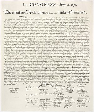 U.S. Declaration of Independence ratified by t...