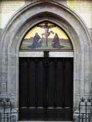 Door of the Schlosskirche (castle church) in W...